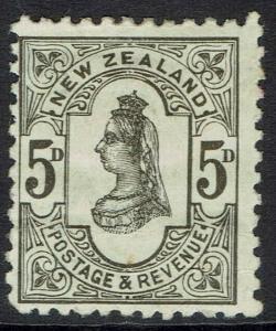NEW ZEALAND 1882 QV 5D