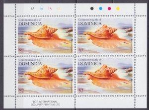 2004 Dominica 3533KL Sea shells 7,50 €