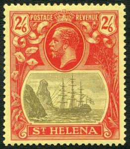 ST HELENA-1927 2/6 Grey & Red/Yellow Sg 109 MOUNTED MINT V33839