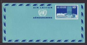 UN New York UC16 Aerogramme Unused