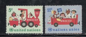 United Nations New York #161-3 comp mnh cv $.75