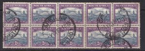 SOUTH AFRICA ^^^^OLDER     used BLOCK  OF   10  $$  @@dc224saa