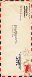 1955, Agana, Guam to New York, Airmail, #10 (9181)