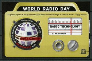 Micronesia 2013 MNH World Radio Day 1v S/S UNESCO Telstar Satellites Stamps