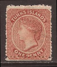 Turks Islands scott #5 m/hr stock #F1098