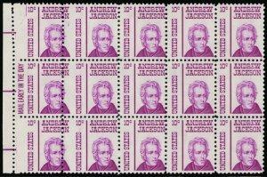 1286, 10¢ Misperforate Error Mail Early Block/15 Big/Small Stamps - Stuart Katz