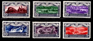 EGYPT Scott 467-472 MH* 1959 set