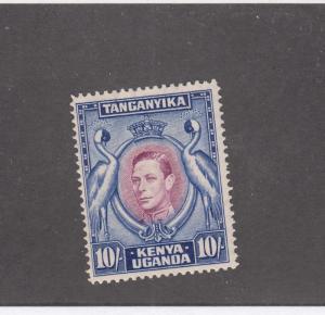 KENYA UGANDA & TANGANIKA # 84b VF-MH KGV1 10sh CAT VALUE $32.50