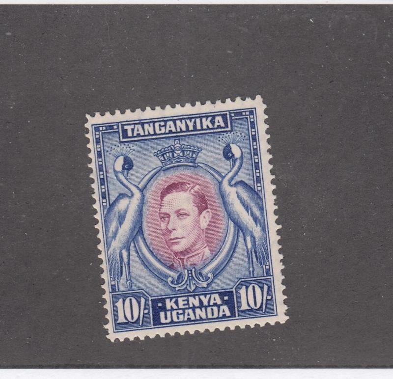 KENYA UGANDA & TANGANIKA # 84b VF-MH KGV1 10sh CAT VALUE $32.50