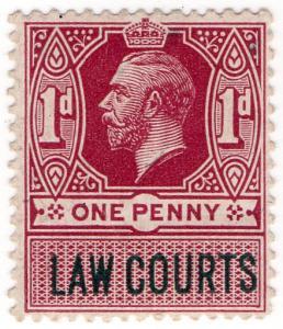 (I.B) George V Revenue : Law Courts (Scotland) 1d