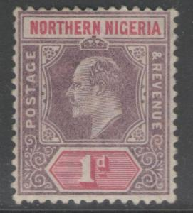 NORTHERN NIGERIA SG21 1905 1d DULL PURPLE & CARMINE MTD MINT