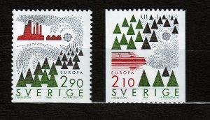 J23104 JLstamps 1986 sweden set mnh #1603-4 europa