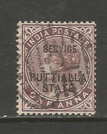 India-Patiala  #O6  Used  (1885)