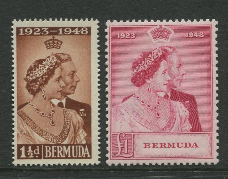Bermuda - Scott 133-134 -  Silver Wedding Issue-1948 -MNH - Set of 2 Stamps
