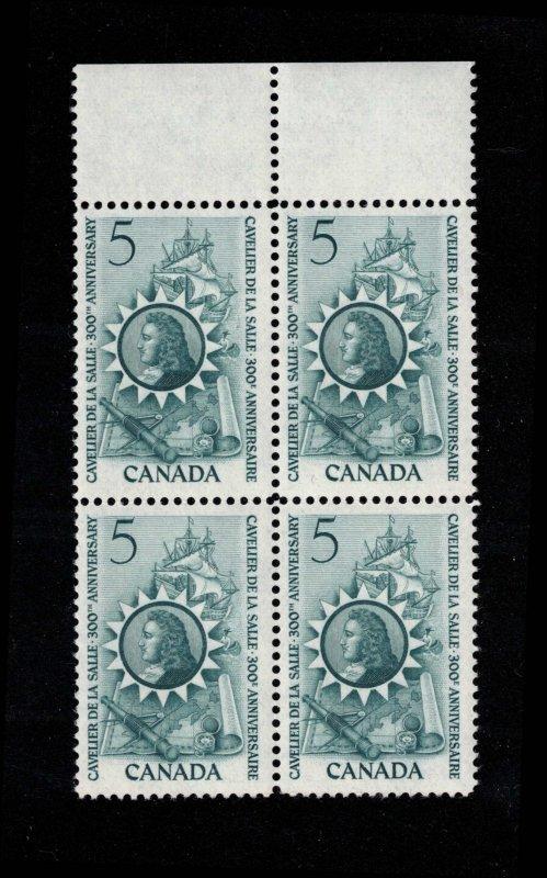 Canada - Cavelier de La Salle - Mint Block NH SC446
