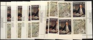 Canada USC #764a Mint 1978 Captain Cook 9 Imprint Blocks Inc. MS VF-NH