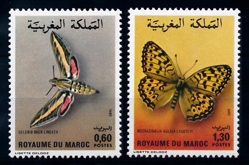 [65597] Morocco 1982 Butterflies  MLH