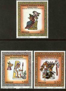 MEXICO 1201-1203, Pre-Hispanic Art. MINT, NH. F-VF.