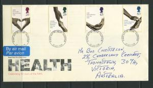 STAMP STATION PERTH:Great Britain - FDC NHS 50 Years Health 1998 CV$?