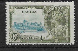 GAMBIA SG145 1935 SILVER JUBILEE 6d MTD MINT