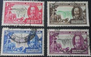 South Rhodesia 1935 GV Silver Jubilee set SG 133/136 used