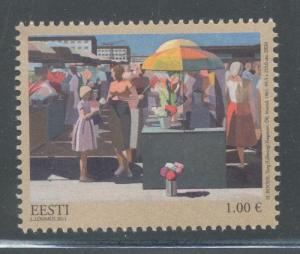 Estonia Sc 688 2011 Market Painting by Roode stamp mint NH