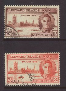 1946 Leeward Is Victory Set Fine Used SG115/116.