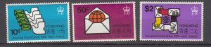 J27774 1974 hong kong set mnh #299-301 upu