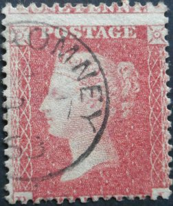 Great Britain 1857 QV Penny Red p14 SG 38 with ROMNEY postmark