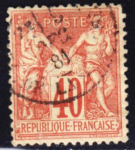 France Scott 74  F+  used.