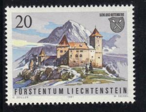 Liechtenstein 1981  MNH Gutenberg castle  20r   #