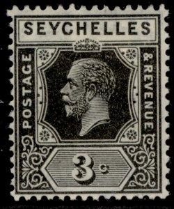 SEYCHELLES GV SG100, 3c black, M MINT.