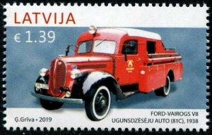 HERRICKSTAMP NEW ISSUES LATVIA Sc.# 1021 Classic Auto 2019 - Ford Vairogs