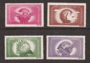 Romania   #B314-B317  MNH 1945 world trade union congress