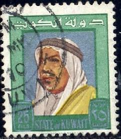 Sheik Abdullah, Kuwait stamp SC#233 used