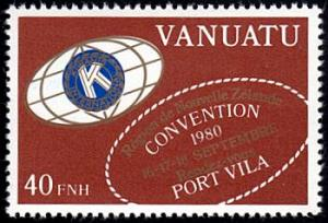 Vanuatu # 296a mnh ~ 40fr Kiwanis, french