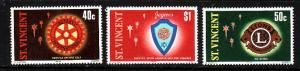 St Vincent-Sc#532-4-unused NH set-Rotary-Lions Intl.-Jaycees-1978-