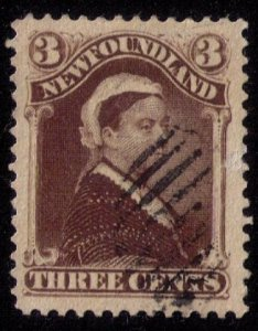 Newfoundland Sc 52  Violet Brown Shade Used F-VF