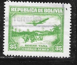 Bolivia C30: 35c Aircraft and Oxcart, used, F-VF