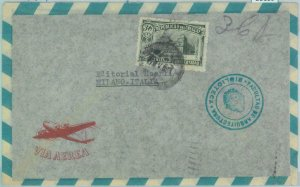 86109 - URUGUAY - POSTAL HISTORY -  AIRMAIL  COVER to ITALY 1954