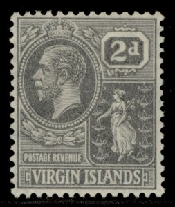 BRITISH VIRGIN ISLANDS GV SG92, 2d grey, M MINT.