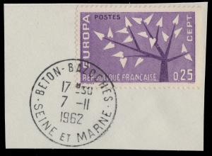 FRANCE - 1962 - CàD  BETON-BAZOCHES / SEINE ET MARNE  sur Yv.1358
