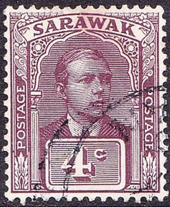 SARAWAK 1923 4 Cents Brown-Purple SG65 Fine Used