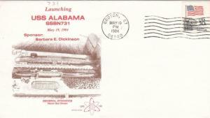 1984, USS Alabama, SSBN-731, Launching (S15522)