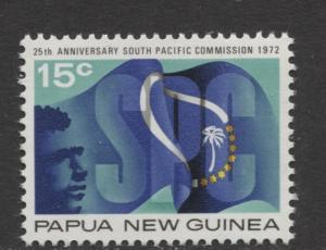 Papua New Guinea - Scott 343 -S.P Commission.-1972 - MNH- Single 15c Stamp
