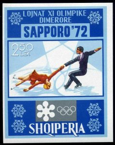 Albania 1410,MNH.Michel Bl.44. Olympics Sapporo-1972.Figure skating,pairs.