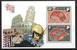 SINGAPORE SGMS970 1998 ITALIA 98  MNH