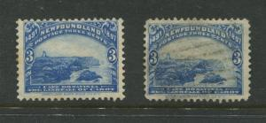 Newfoundland - Scott 63 - QV Definitive - 1897 - MH/Used - 2 Stamps