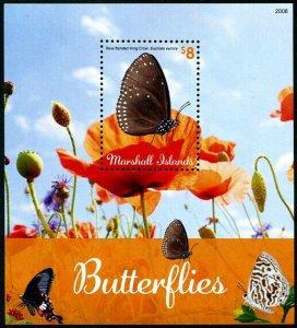 HERRICKSTAMP NEW ISSUES MARSHALL ISLANDS Butterflies S/S