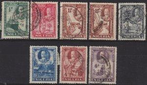 Nigeria, King George V, Sc 38-44 + 40a, used short set